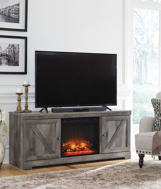 Picture of Wynnlow TV Stand with Fireplace Insert