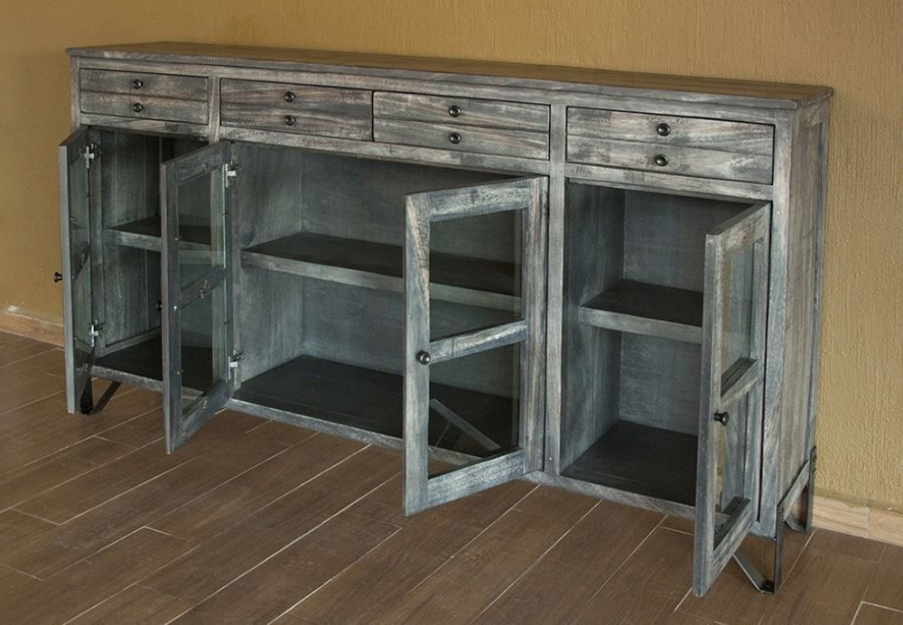 Picture of Moro Console with Four Drawers and Four Glass Doors