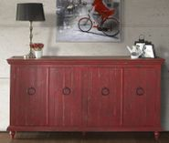 Capri Red Console with Four Doors