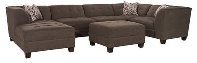 Caprice Grey Five Piece Sectional