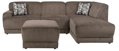 Cornell Pewter Two Piece Sectional