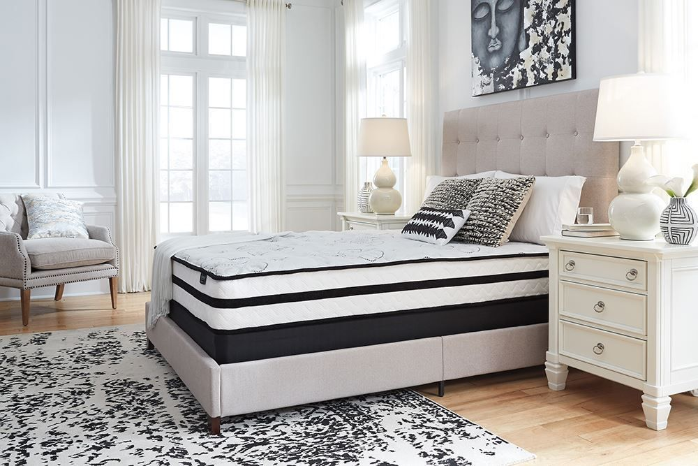 Picture of Ashley Chime 10 Inch Hybrid Queen Mattress Set