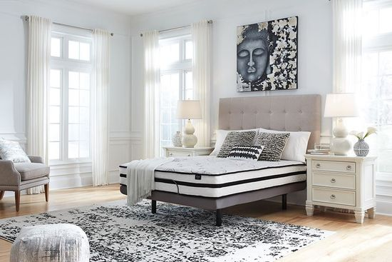 Picture of Ashley Chime 10 Inch Hybrid Adjustable Head King Mattress Set