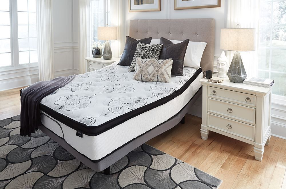 Picture of Ashley Chime 12 Inch Hybrid Adjustable Head King Mattress Set
