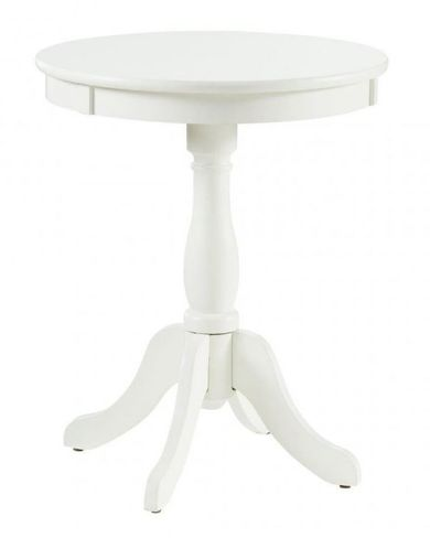 Palmetto White Accent Table