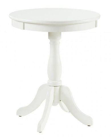Palmetto White Accent Table