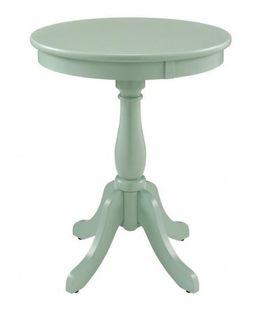 Palmetto Aqua Accent Table