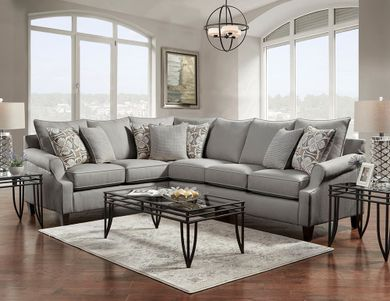 Bay Ridge Gray Two Piece Sectional
