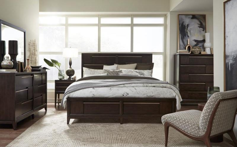 Picture of Modern Geometry Double Drawer Dresser