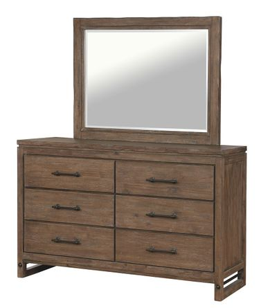 Round Rock Dresser and Mirror Set