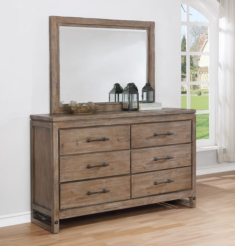 Picture of Round Rock Dresser and Mirror Set