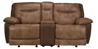 Cody Brown Glider Console Loveseat