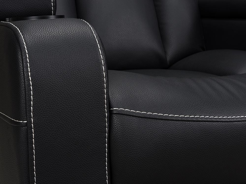 Picture of Laney Black Power Reclining Loveseat