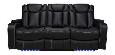 Laney Black Power Reclining Sofa
