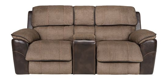 Picture of Ben Java Glider Reclining Console Loveseat