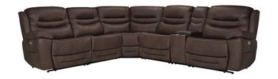 Splash Chocolate Six Piece Power Reclining Sectional