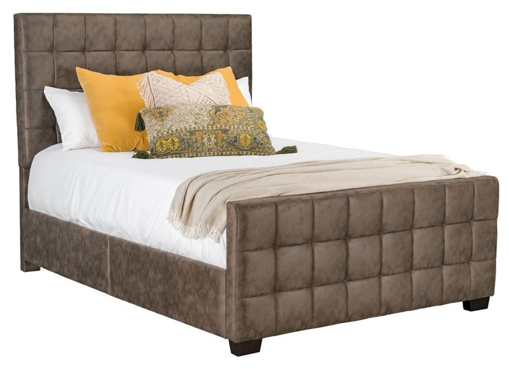 Picture of Altura Brown King Upholstered Bed Set