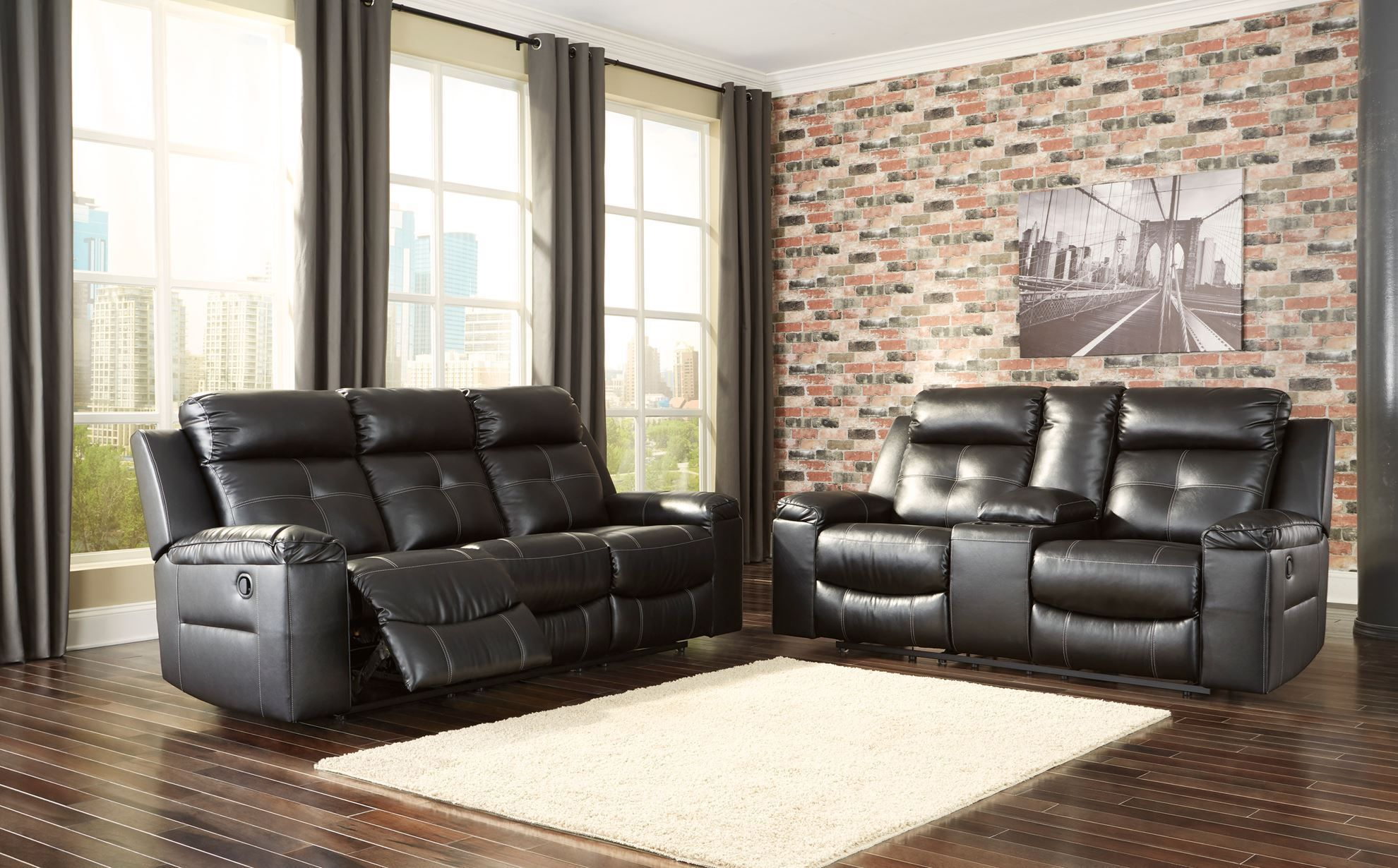 Picture of Kempten Black Reclining Sofa
