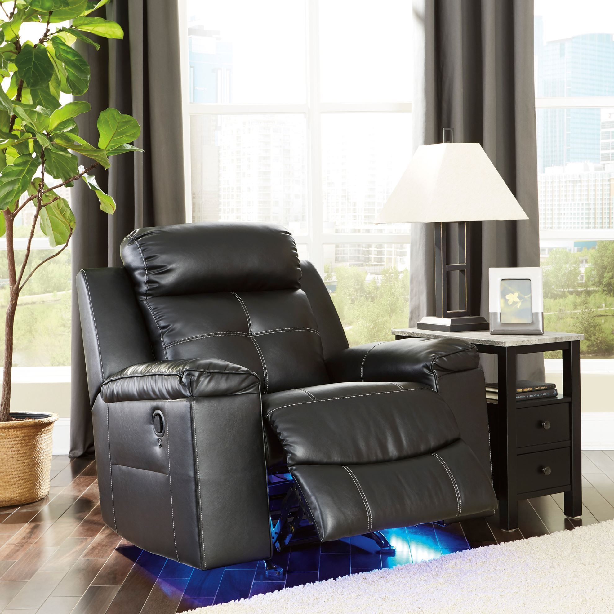 Picture of Kempten Black Rocker Recliner