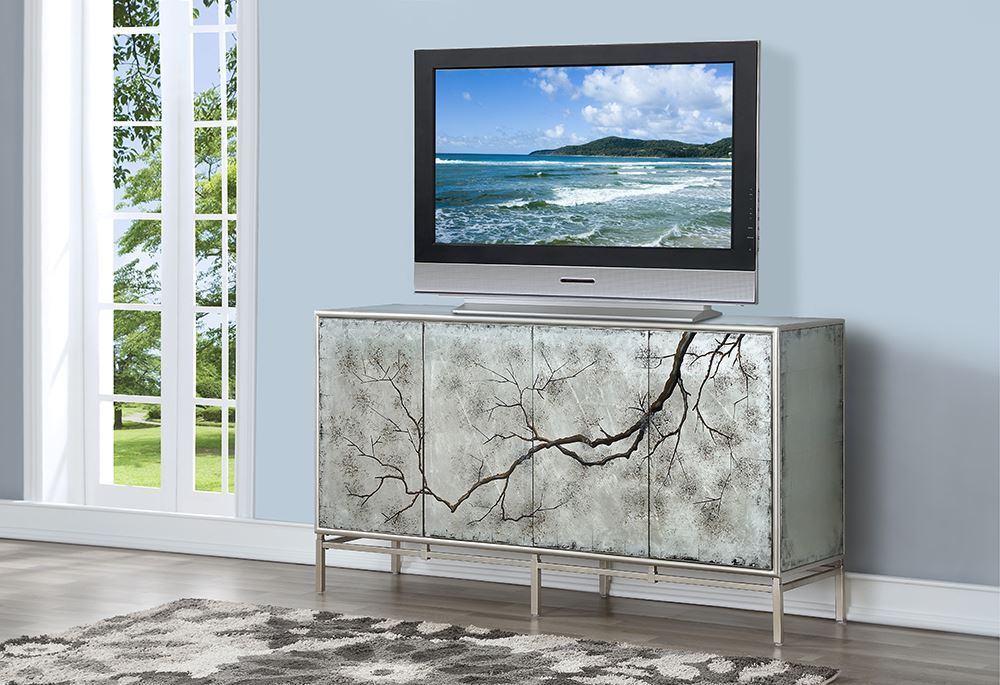 Picture of Silvermist Four Door Media Credenza