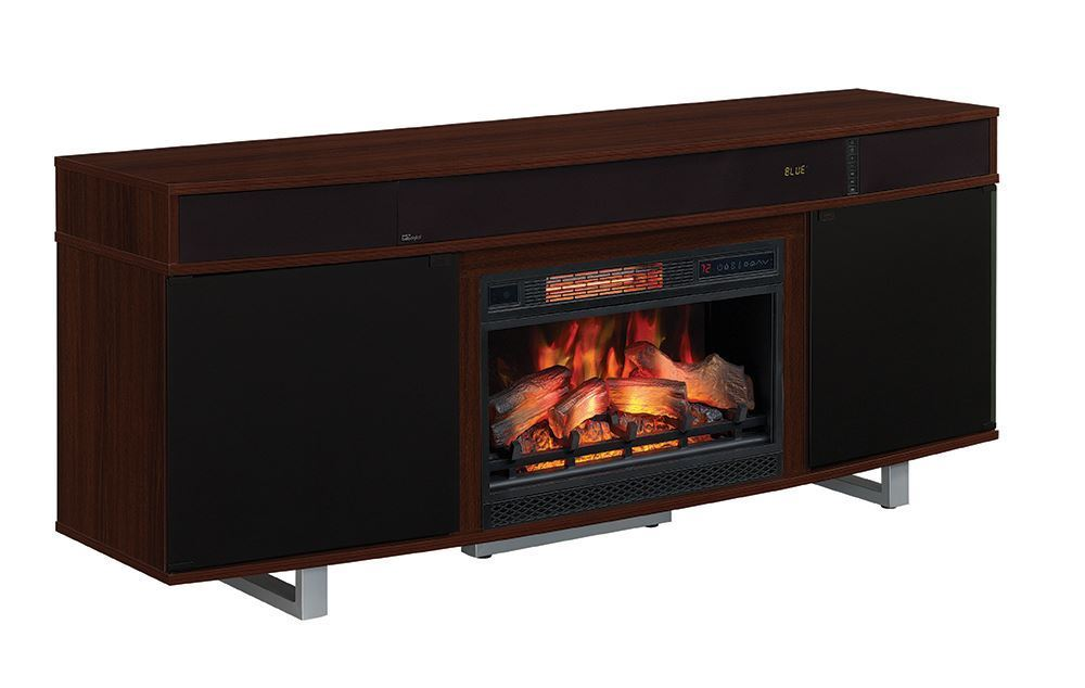 Picture of 72 Inch Cherry Enterprise Fireplace TV Stand