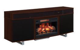 72 Inch Cherry Enterprise Fireplace TV Stand