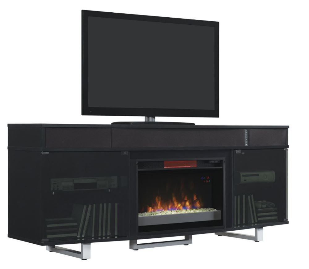 Picture of 72 Inch Black Enterprise Fireplace TV Stand