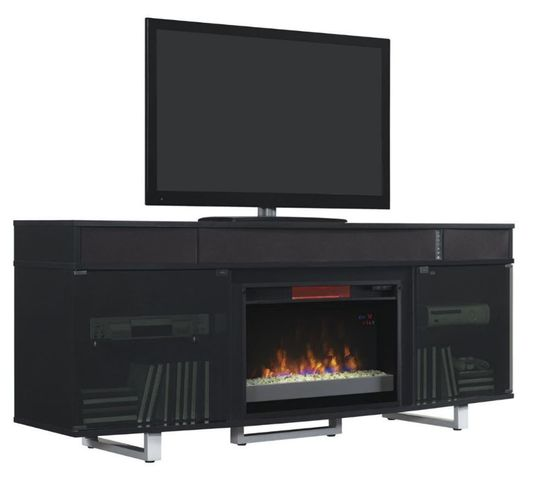 72 Inch Black Enterprise Fireplace Tv Stand The