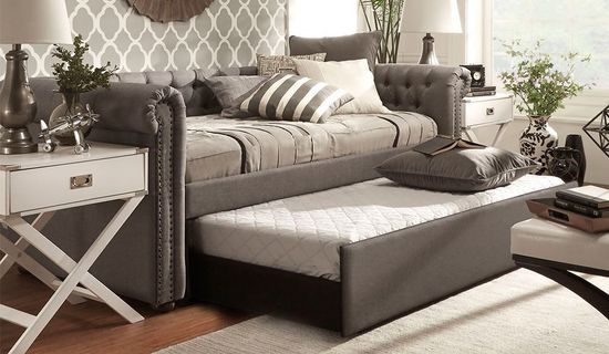 Picture of Inspire Grey Upholstered Daybed