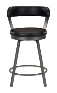 Bistre Black Counter Stool