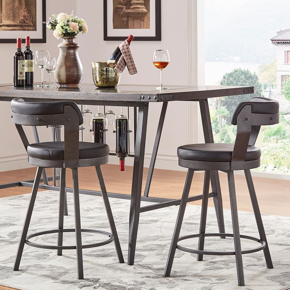 Picture of Bistre Black Counter Stool