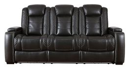 Party Time Midnight Power Reclining Sofa