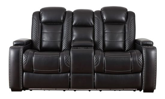 Picture of Party Time Midnight Power Console Loveseat