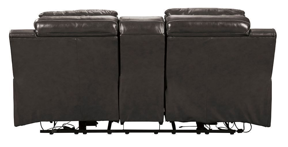 Picture of Pomellato Charcoal Power Reclining Console Loveseat