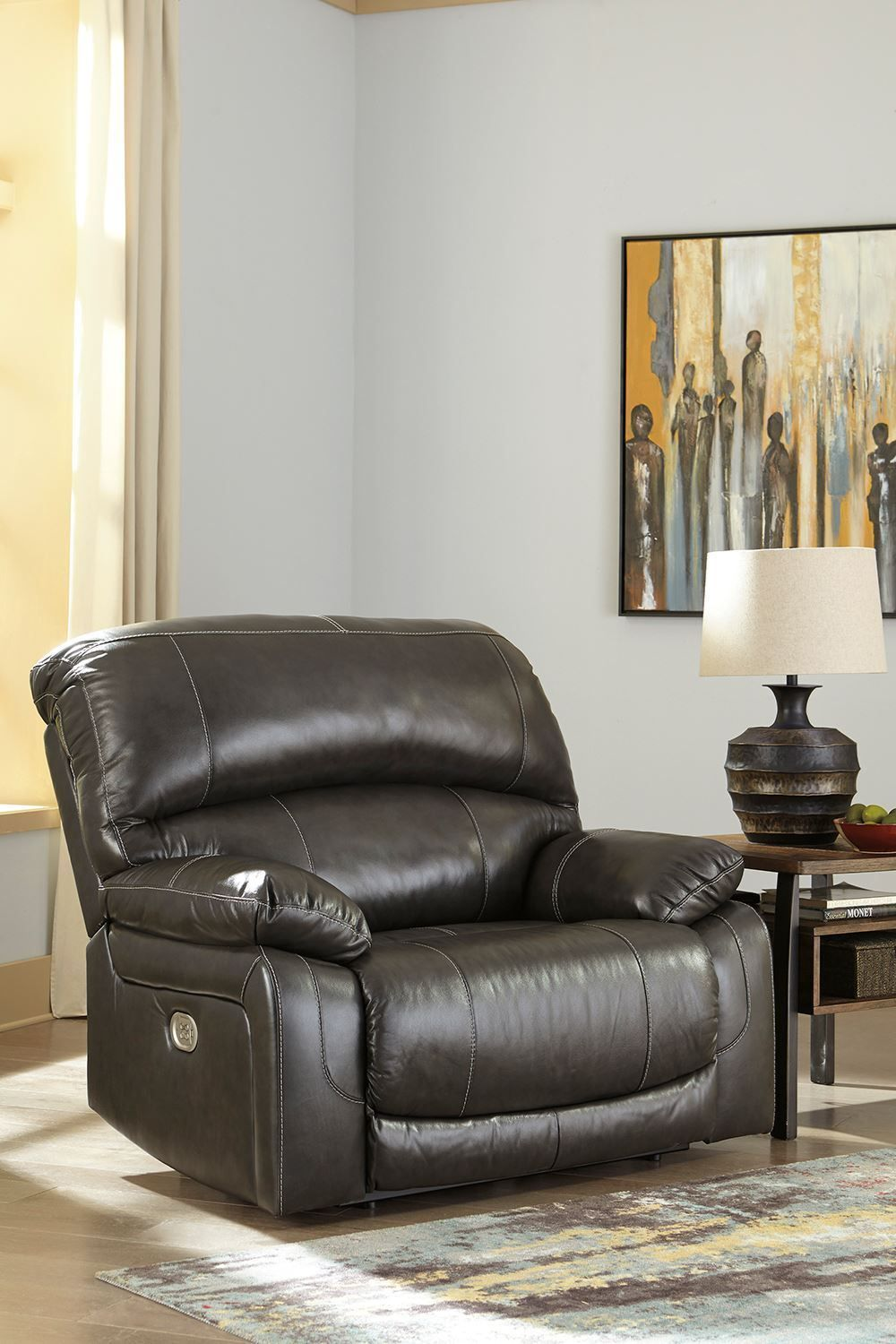 Picture of Hallstrung Charcoal Power Recliner
