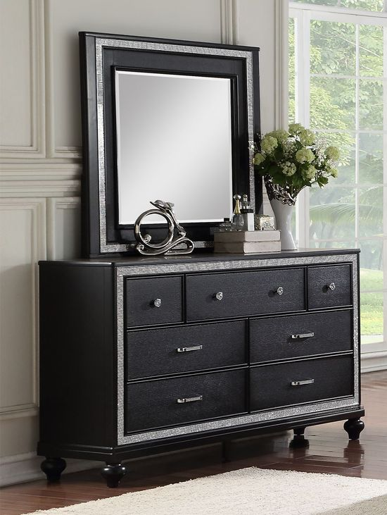 Picture of Kanti Black Dresser and Mirror Set