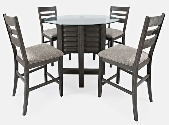 Picture of Altamonte Grey Round Counter Table with Four Stools