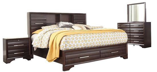 Andriel Queen Storage Bedroom Set | The Furniture Mart