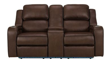 Hunter Godiva Power Reclining Console Loveseat