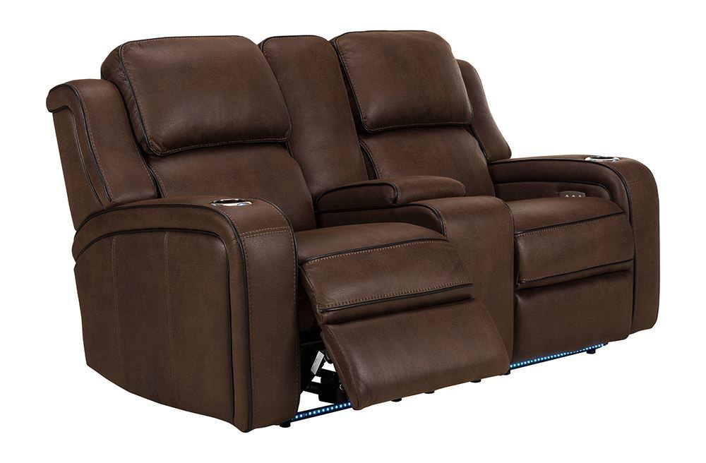 Picture of Hunter Godiva Power Reclining Console Loveseat