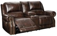 Buncrana Chocolate Power Console Loveseat