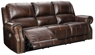 Buncrana Chocolate Power Reclining Sofa