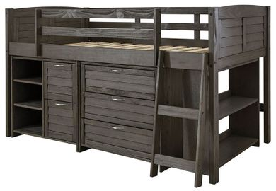 Caitbrook Twin Loft Bed Set