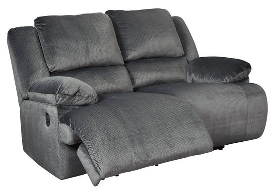 Picture of Clonmel Charcoal Reclining Loveseat