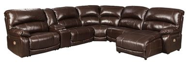 Hallstrung Chocolate Six Piece Reclining Sectional