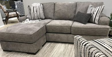 Handwoven Stone Sofa with Chaise
