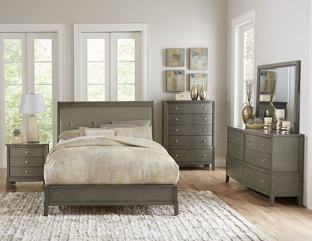 Picture of Cotterill Grey King Bed Set