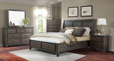 Chatham Grey Queen Storage Bedroom Set