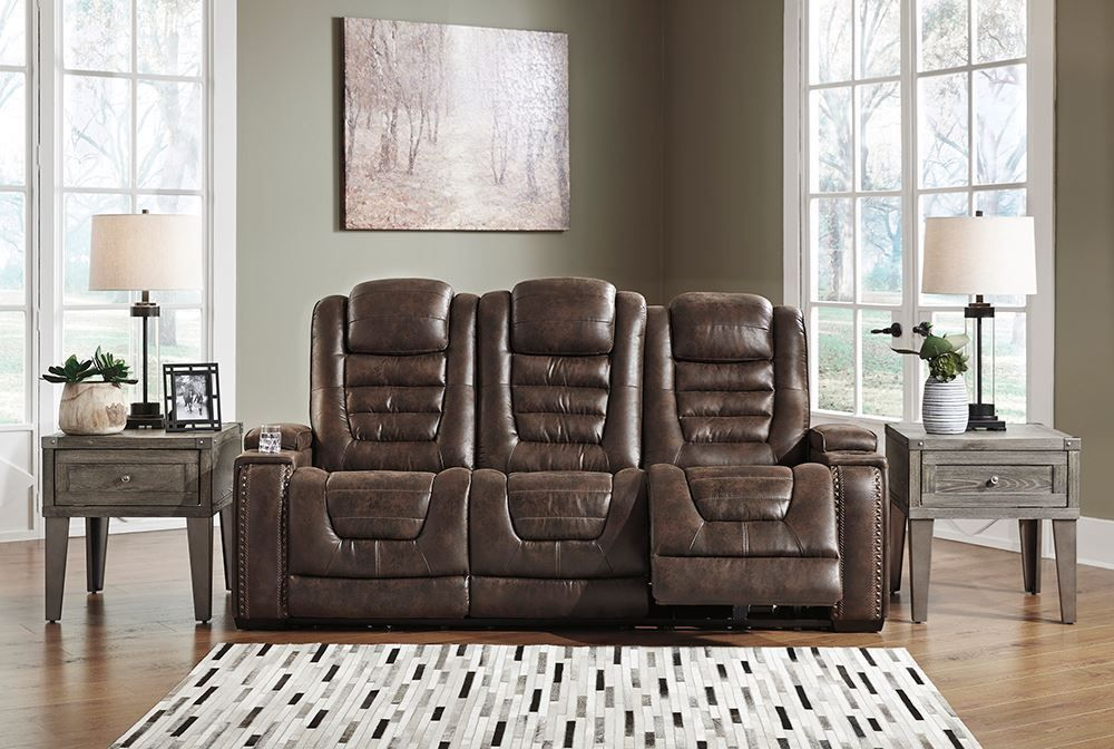 Picture of Game Zone Bark Power Console Loveseat