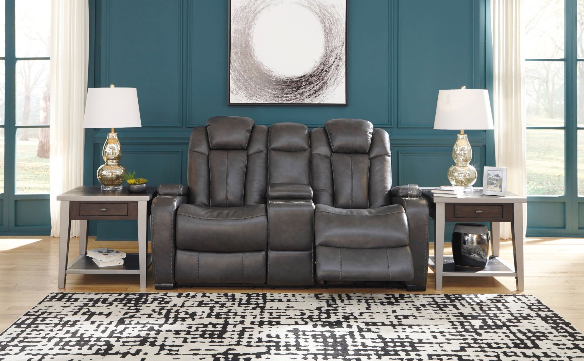 Picture of Turbulance Quarry Power Console Loveseat